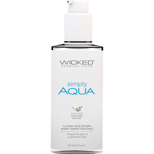 Simply Aqua Water Based Personal Lubricant With Olive Leaf Extract By Wicked Sensual Care 2.3 fl oz