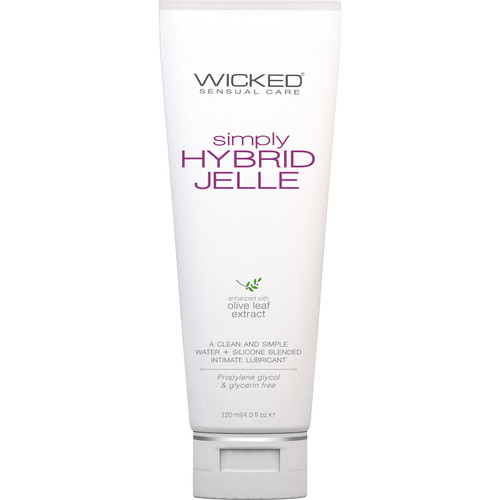 Simply Hybrid Jelle Personal Lubricant With Olive Leaf Extract 4 fl oz