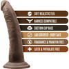 Dr. Skin 7 Inch Basic Realistic Dildo With Suction Cup by Blush - Chocolate
