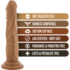 Dr. Skin 7.5 Inch Basic Realistic Dildo With Suction Cup by Blush - Caramel