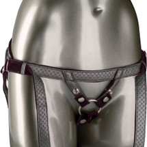 Her Royal Harness The Regal Duchess O-Ring Harness by CalExotics - Pewter