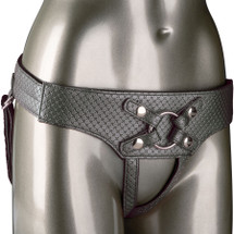 Her Royal Harness The Regal Empress O-Ring Harness by CalExotics - Pewter