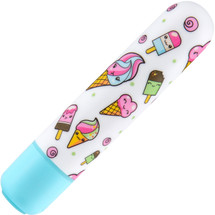 The Collection Mini Sweet Cream Waterproof Bullet Vibrator By Blush - Blue