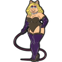 "Mistress Piggy 2"" Soft Enamel Pin By Geeky And Kinky"