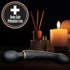 Lush Gia Rechargeable Silicone Dual Use Wand Style Vibrator By Blush - Black