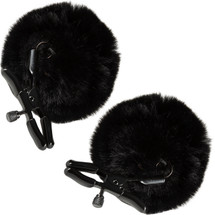 Noir Pom Adjustable Nipple Clamps By Blush - Black