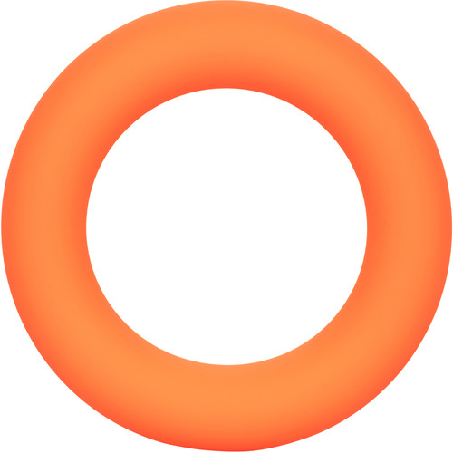 Link Up Ultra-Soft Verge Silicone Cock Ring By CalExotics - Orange