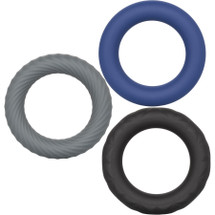 Link Up Ultra-Soft Extreme Silicone 3 Cock Ring Set By CalExotics
