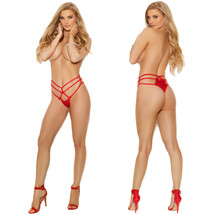 Elegant Moments Strappy Lace Thong - Red