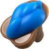 b.cush Soft Silicone Dildo Base for Harness Play - Sea Blue