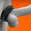 Oxballs Juicy Pumper Silicone Cock Ring 3.5 Inch - Black