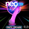Neo Elite Glow In The Dark 7.5 Inch Dual Density Realistic Silicone Dildo With Balls by Blush - Neon Pink
