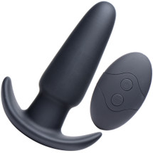 Thump It 7X Silicone Rechargeable Thumping Anal Plug With Remote Control - Medium