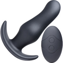 Thump It 7X Curved Silicone Rechargeable Thumping Anal Plug With Remote Control