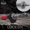The Realm Rougarou Lock On Werewolf Sword Dildo Handle - Steel
