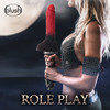 The Realm Lycan Silicone Lock On & Harness Compatible Werewolf Dildo - Red
