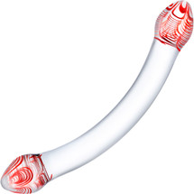 Gläs Red Head Glass Double Dildo