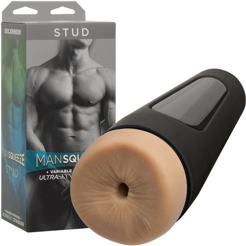 Man Squeeze Stud Ultraskyn Penis Masturbator Butt By Doc Johnson - Vanilla