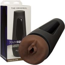 Main Squeeze Original Penis Masturbator Pussy by Doc Johnson - Chocolate
