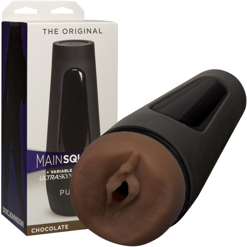 Main Squeeze Original Penis Masturbator Pussy by Doc Johnson - Chocolate