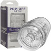 Main Squeeze Pop Off Optix Compact Penis Masturbator by Doc Johnson - Crystal Clear