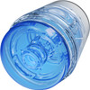 Main Squeeze Pop Off Optix Compact Penis Masturbator by Doc Johnson - Crystal Blue