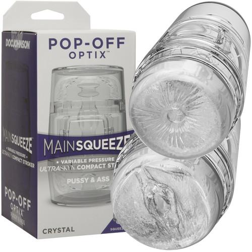 Main Squeeze Pop Off Optix Compact Penis Masturbator Pussy & Butt by Doc Johnson