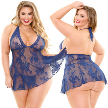 Curve Livie Stretch Lace Babydoll & Matching G-String by Fantasy Lingerie