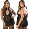 Curve Willow Floral Burnout Babydoll & Panty by Fantasy Lingerie