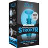 ZOLO Squeezable Mini Double Bubble Stroker Penis Masturbator - Blue
