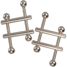 Nipple Grips Crossbar Nipple Vices By CalExotics - Silver