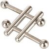 Nipple Grips Crossbar Nipple Vices By CalExotics - Silver