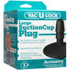 Doc Johnson Vac-U-Lock Black Large Suction Cup With Plug