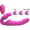 Evoke Ergo Fit Inflatable & Vibrating Silicone Strapless Strap-on with Remote Control By Strap U
