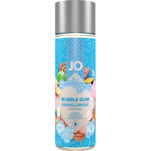JO H2O Candy Shop Bubble Gum Flavored Water Based Personal Lubricant 2 fl oz