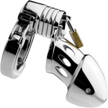 Master Series Incarcerator Stainless Steel Adjustable Locking Chastity Cage