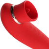 Maia Destiny 15-Function Rechargeable Silicone Vibrator With Suction And Three Motors - Red