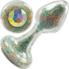 Sparkle Glow Glass Butt Plug With Aurora Borealis Crystal Base By Crystal Delights - Tooti Fruiti