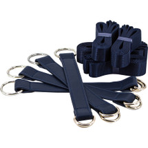 Bondage Couture Tie Down Straps By NS Novelties - Blue