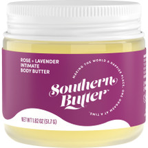 Southern Butter Body Butter Rose & Lavender Oil Based Lubricant 1.82 oz Jar