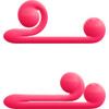 Snail Vibe Silicone Rechargeable Waterproof Dual Stimulation Science Based Vibrator - Pink