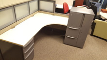 30 Haworth Premise 6x6 Benching Cubicles