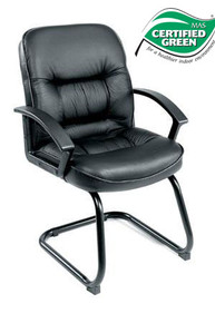 B7309 EXECUTIVE GUEST CHAIR IN LEATHERPLUS