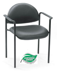 B9501 STACKABLE FABRIC GUEST CHAIR WITH ARMS