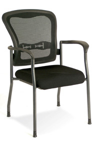PERFORMANCE SEATING 7804 MESH BACK STACKABLE GUEST CHAIR WITH FABRIC SEAT
