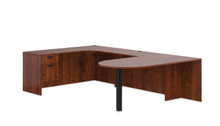 Performance Laminate U Desk with Bullet Table Desk and Storage Pedestal