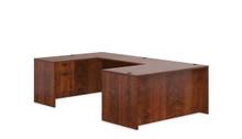 Performance Laminate U Desk with Rectangular Desk and 2 Storage Pedestals