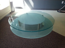 Used Round Glass Coffee Table