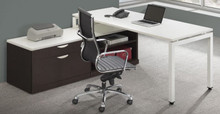 Elements Benching L-Desk Set with Storage Bench