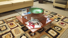 Used Reception Coffee Table with Glass from Easy Office Furniture in Marietta and Atlanta GA